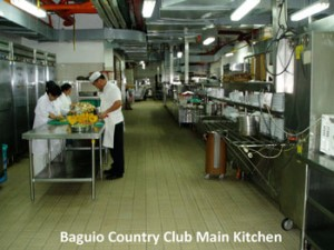 Baguio Country Club kitchen